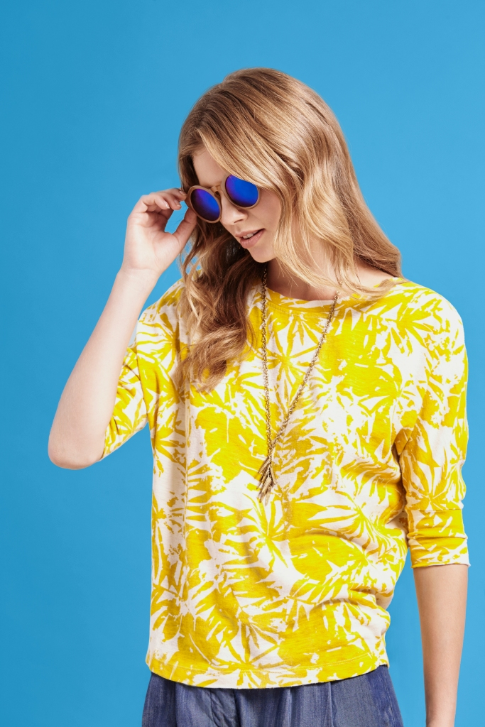 KELLY Top yellow